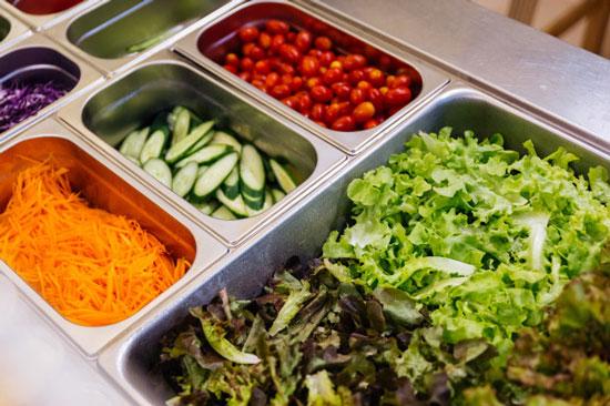 Bares con comida saludable